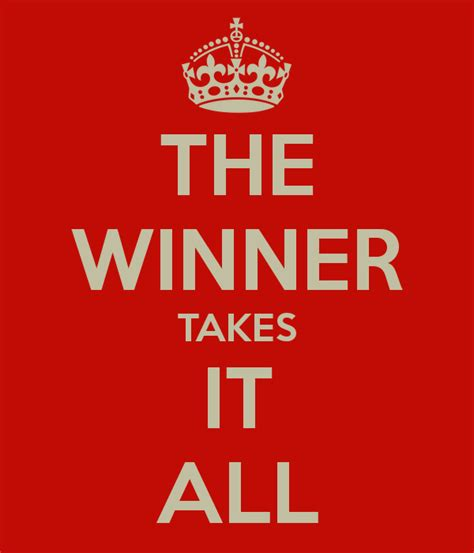 All It Takes the winner takes it all poster sabrina manfredi keep
