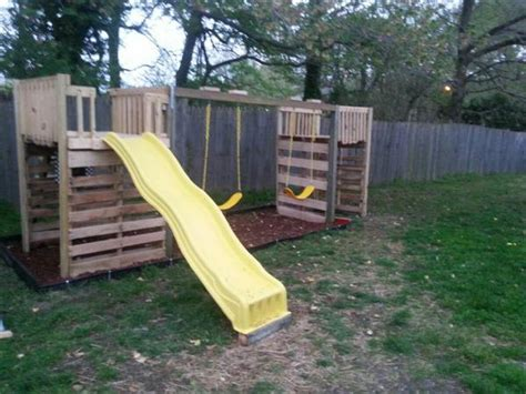 how to build a backyard playground diy pallet backyard playground ideas pallets designs