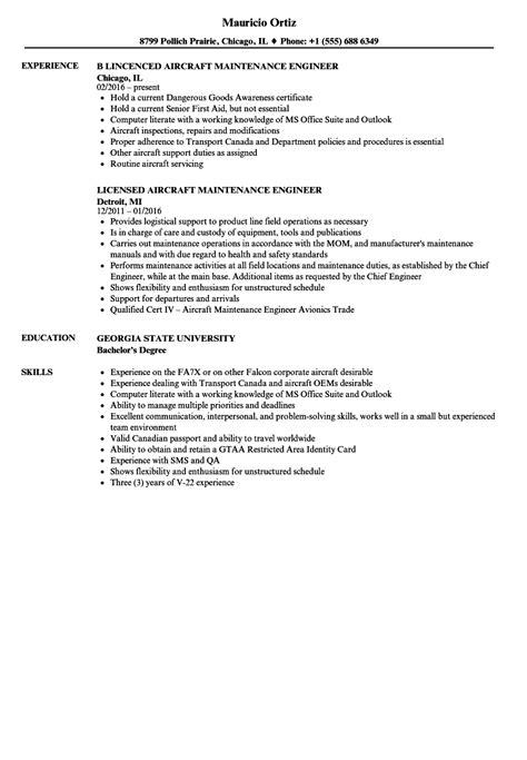 curriculum vitae format aircraft maintenance engineer sle cv aircraft maintenance engineer choice image