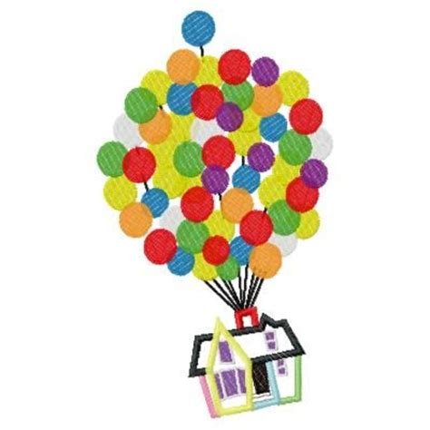 up house design up house with balloons applique embroidery design