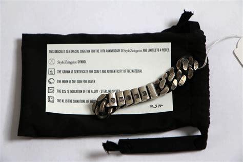werkstatt x werkstatt munchen x stylezeitgeist silver bracelet