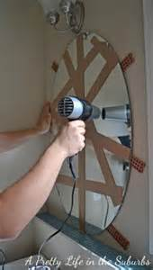 how to remove a glued on bathroom mirror bathroom wall mirrors foter