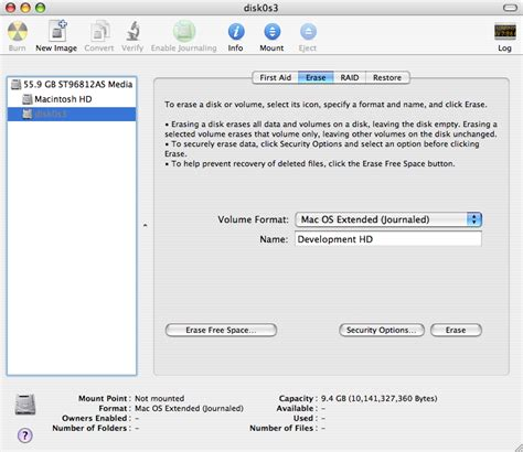 format new hard drive mac disk utility forever for now nondestructive partitioning