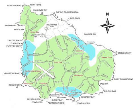norfolk island map norfolk map travelsfinders
