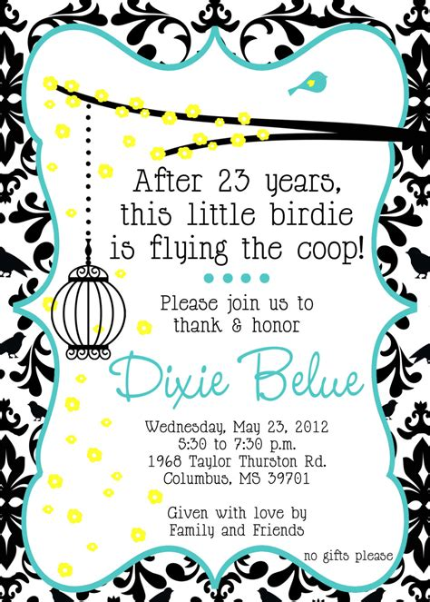 5x7 custom retirement party invitation jpeg by plgraphicdesign