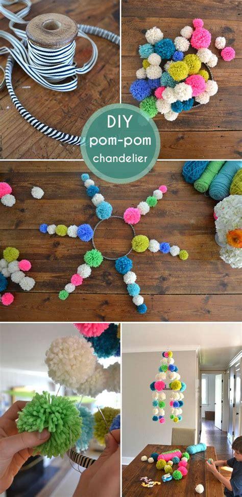 Pom Pom Chandelier Diy Pom Pom Garlands For Pretty Designs
