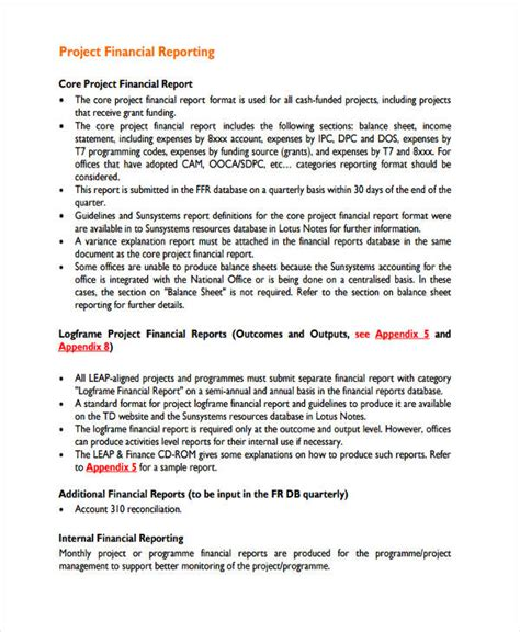 project report 28 project report exles sles pdf word pages