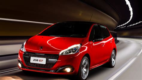 car brand peugeot wallpaper peugeot 208 gt hatchback red clouds cars