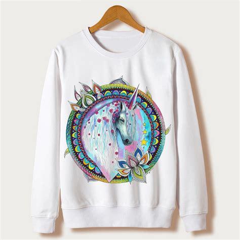 harajuku unicorn print sweatshirts 2016 autumn clothing