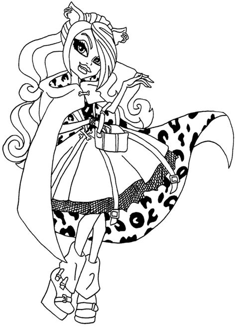 imagenes para colorear monster high monster high para colorear imagenes de dibujos animados