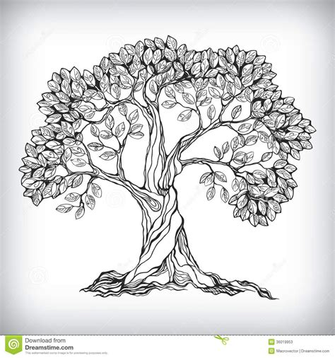 doodle draw tree tree symbol from 28 million