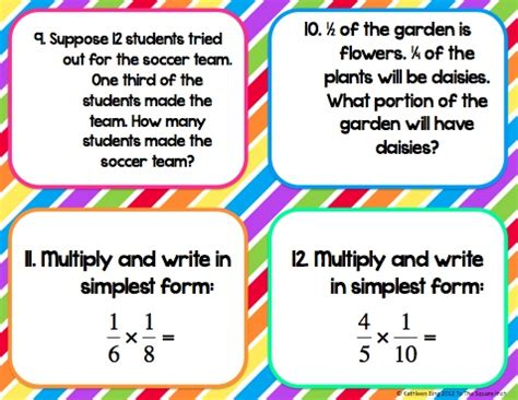 multiplying fractions using cards template 45 best images about number and operations fractions 4 nf