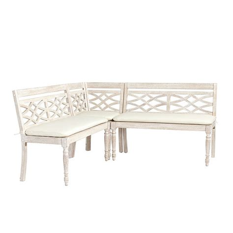 Banquette Sets by Ceylon Whitewash 3 Dining Banquette Set Ballard Designs