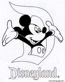 mickey disneyland disney 120e8 coloring pages printable