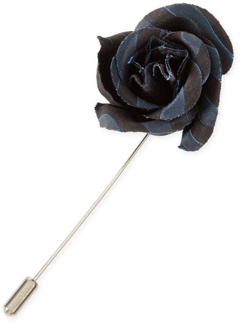 Lapel Pin Pin Tuspin Bros Brown Striped Flower lanvin striped lapel pin blackblue where to buy how to wear