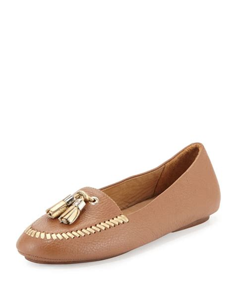 rogers loafers rogers terra tassel leather loafer cognac gold