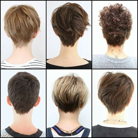 hair styles showing the back of back view of pixie haircuts hairstyles ideas