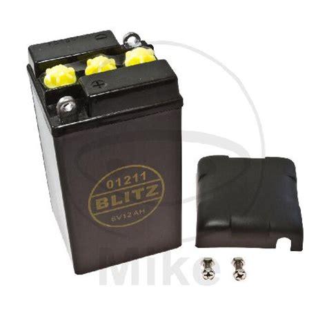 Motorrad Batterie 6v by Motorrad Batterie Blitz Classic B49 6 6v 12ah Schwarz