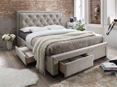 lit 180x200 avec tiroir lit avec tiroirs leopold tissu chagne 160x200cm