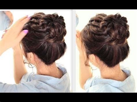 hairstyles for color guard starburst braided bun hairstyle cute summer braids