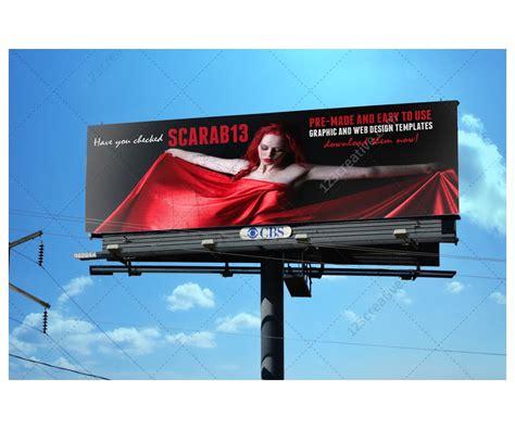 sky billboard mockups realistic billboard templates