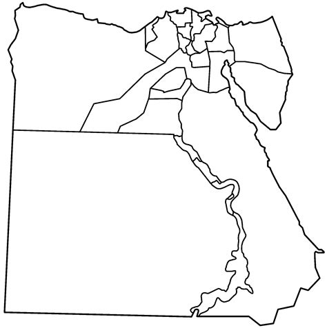 printable map ancient egypt image gallery outline map of egypt