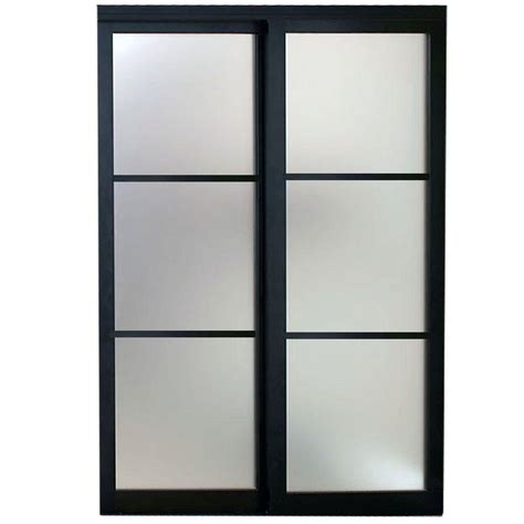 Contractors Wardrobe 72 In X 96 In Eclipse 3 Lite Glass Closet Sliding Doors