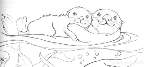 Sea Otter Awareness Week 2012 Jen Richards Sea Otter Coloring Page