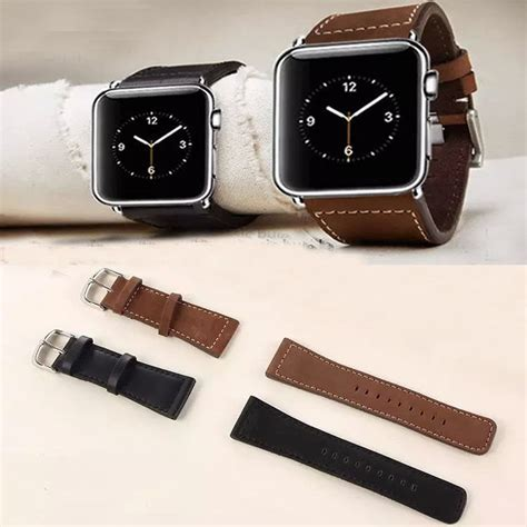 Promo Luxury Apple Green Leather 38mm For Series 1 2 3 black brown cowhide genuine leather band for apple series 2 apple