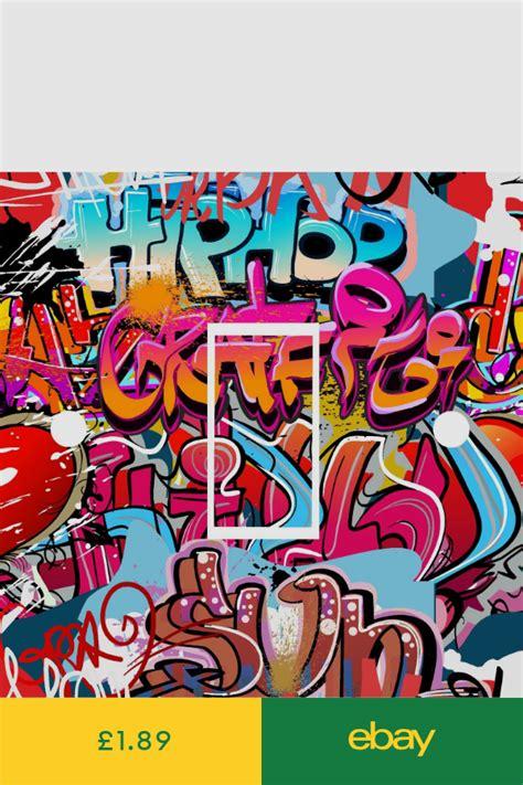 graffiti art kids light switch cover wrap skin uk single