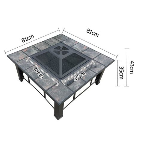 Outdoor Pit With Lid Outdoor Pit Bbq Grill Fireplace Table With Lid Buy