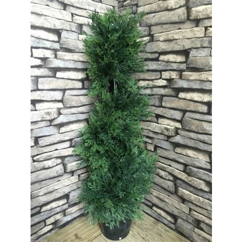 best artificial 3ft 90cm cedar conifer spiral topiary tree