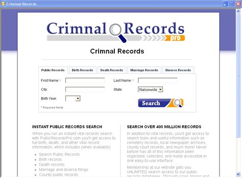 Records Search Criminal Records Search 2 1 0 Freeware