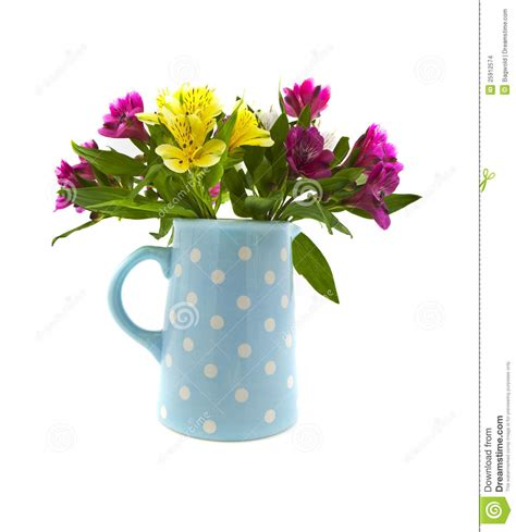 Green Leaf Teko Water Jug 4 L mixed flowers in blue jug stock illustration image of