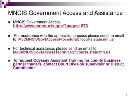 Mncis Court Records Ppt Mncis Government Login Access Accounts Odyssey Assistant Oa Minnesota