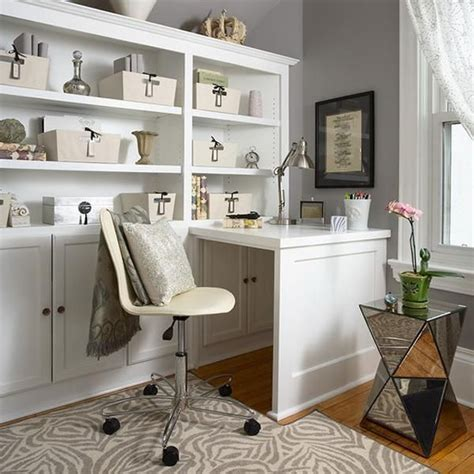 Small Home Office Built In Space Saving Built In Office Furniture In Corners