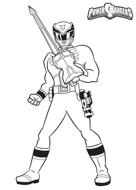 printable coloring pages power rangers samurai power ranger coloring pages
