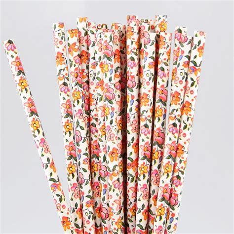 Paper Straw Motif summer floral paper straws pipii