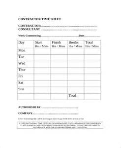 contractor timesheet template 16 timesheet templates free sle exle format