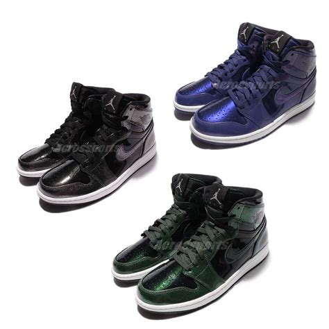 patent leather basketball shoes nike air 1 retro high patent leather mens