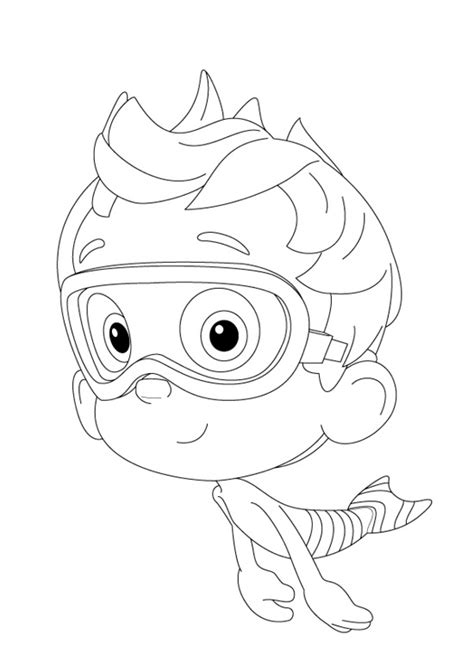 Guppy Coloring Pages Guppies Coloring Pages