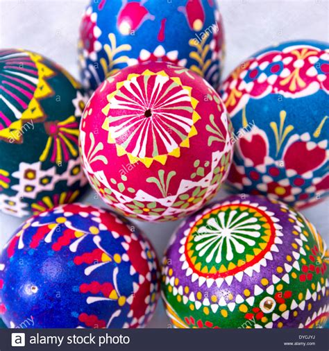 colorful easter eggs colourful easter eggs in a bowl of glass stock photo
