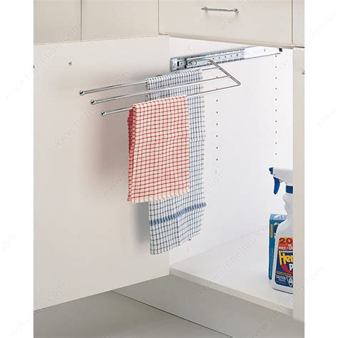 kitchen towel bar under sink pull out towel rack richelieu hardware