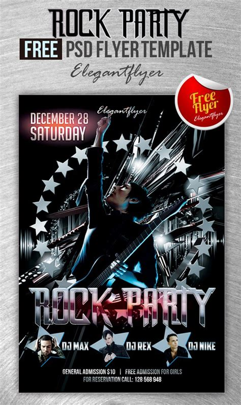rock flyer template 90 awesome free psd flyer templates