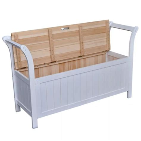 white wood bench with storage vidaxl co uk vidaxl storage bench 126x42x75 cm wood white