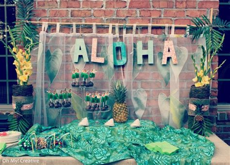 christmas in hawaii themed party vintage luau style backdrops luau and creative