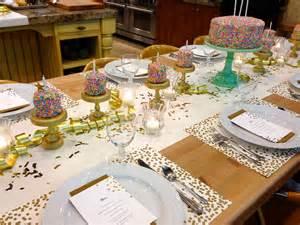 dinner supplies birthday rainbow sprinkles table setting