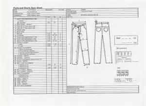 Garment Spec Sheet by Yukari Yajima Product Development