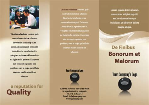 adobe illustrator brochure templates free illustrator templates generic tri fold brochures