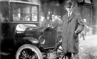Henry Ford And Car And Driver